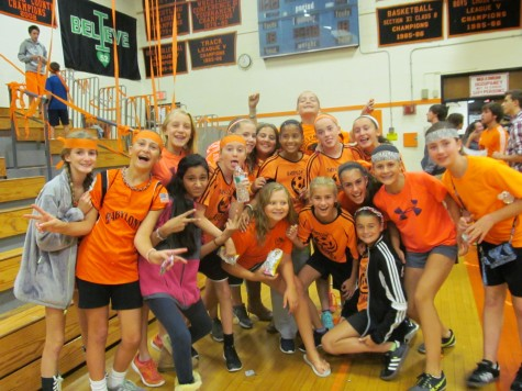 7th Graders Enjoying Spirit Night
