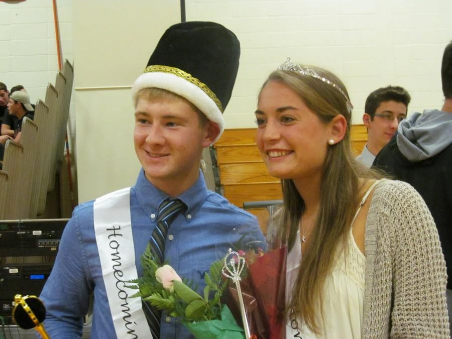Homecoming+King%2C+Kyle+Baldwin+and+Queen%2C+Shayne+Antolini