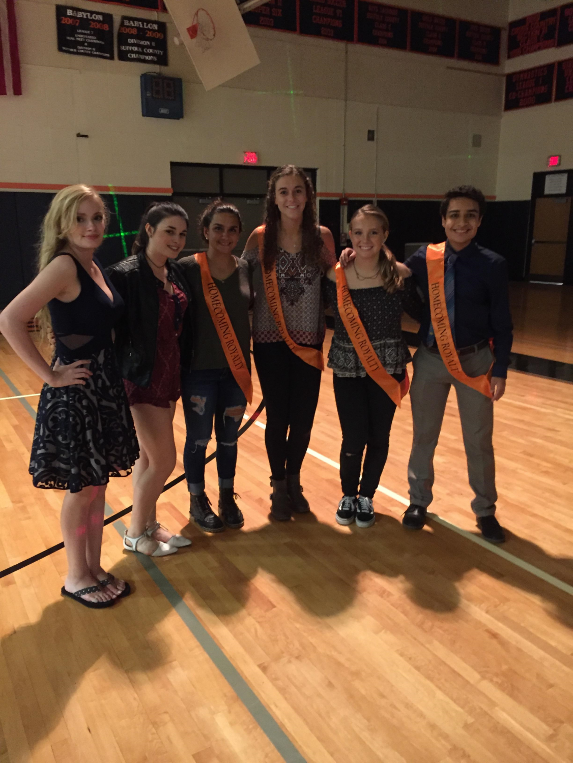 Members of the Homecoming court enjoy the dance.